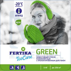 Противоледный реагент -20C Fertika IceCare Green 5 кг